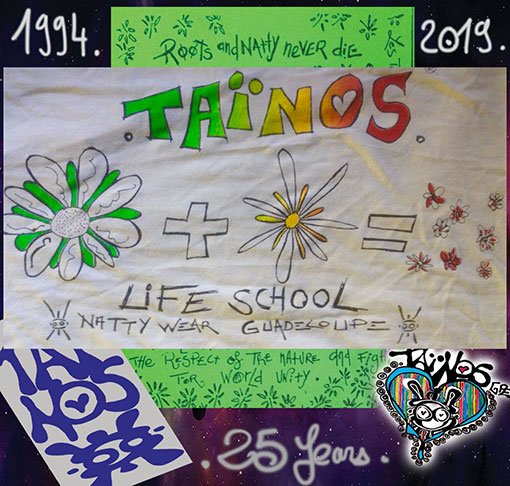 LIFE IS SCHOOL TAINOS GUADELOUPE LOGO 25 ANS