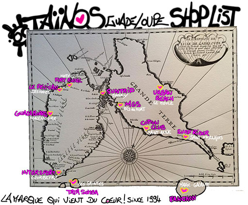 SHOP LIST TAINOS GUADELOUPE 2018