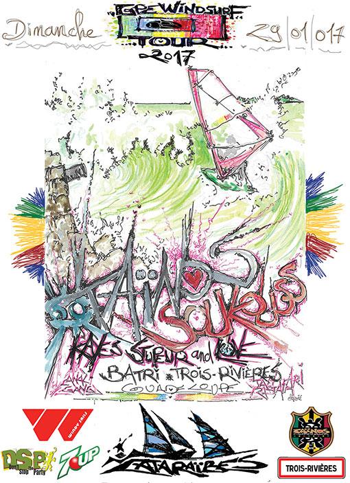 TAINOS SOUKOUSS GPE WINDSURF TOUR 2017 GUADELOUPE