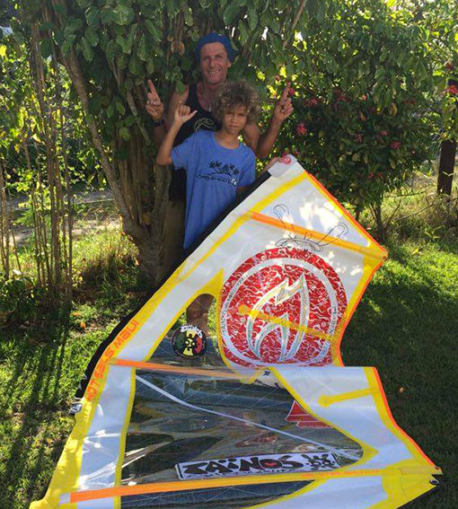KYM LAURENT GPE10 TAINOS GUADELOUPE WINDSURF HOT SAILS MAUI